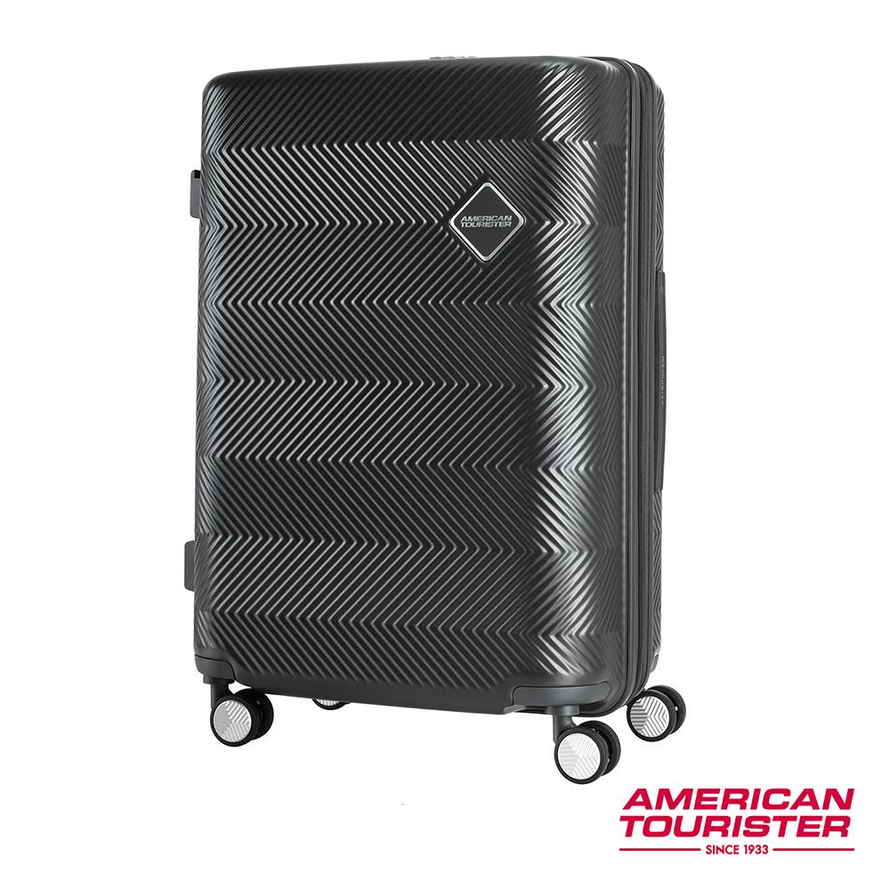 AT美國旅行者 24吋Groovista 霧面耐磨吸震PC硬殼行李箱(黑)