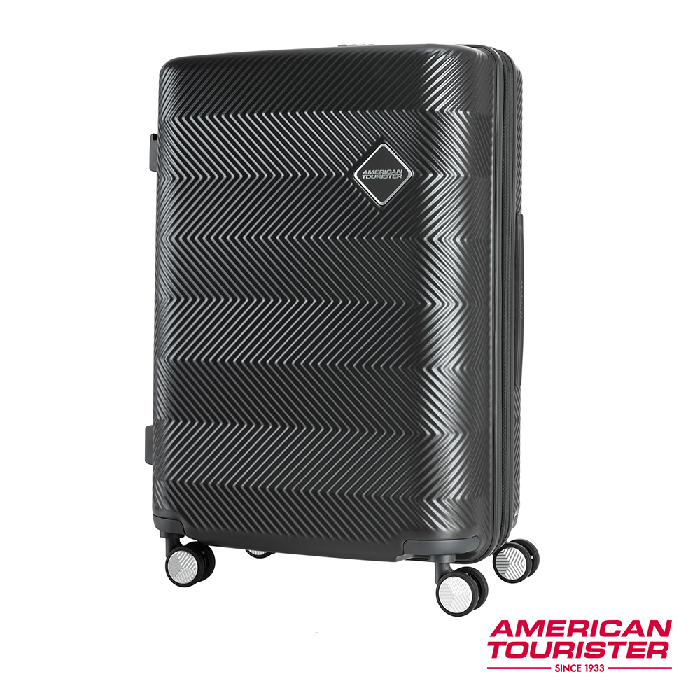 AT美國旅行者 29吋Groovista 霧面耐磨吸震PC硬殼行李箱(黑)