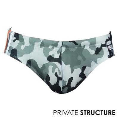 P.S 迷彩系列-無痕低腰比基尼三角泳褲(灰黑),Private Structure