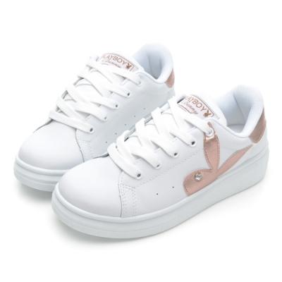 PLAYBOY unicorn 幻彩兔兔小白鞋-白玫瑰金-Y7215J
