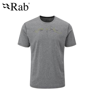 【英國 RAB】Mantle Tessalate Tee 圓領快乾短袖T恤 男款 鯨魚灰 #QBL14