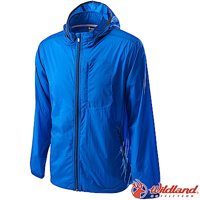 Wildland 荒野 0A62910-70寶藍色 男15D防潑水高透氣外套
