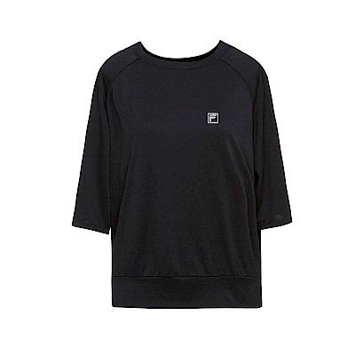 FILA 女款涼感短袖T恤-黑色 5TET-1603-BK