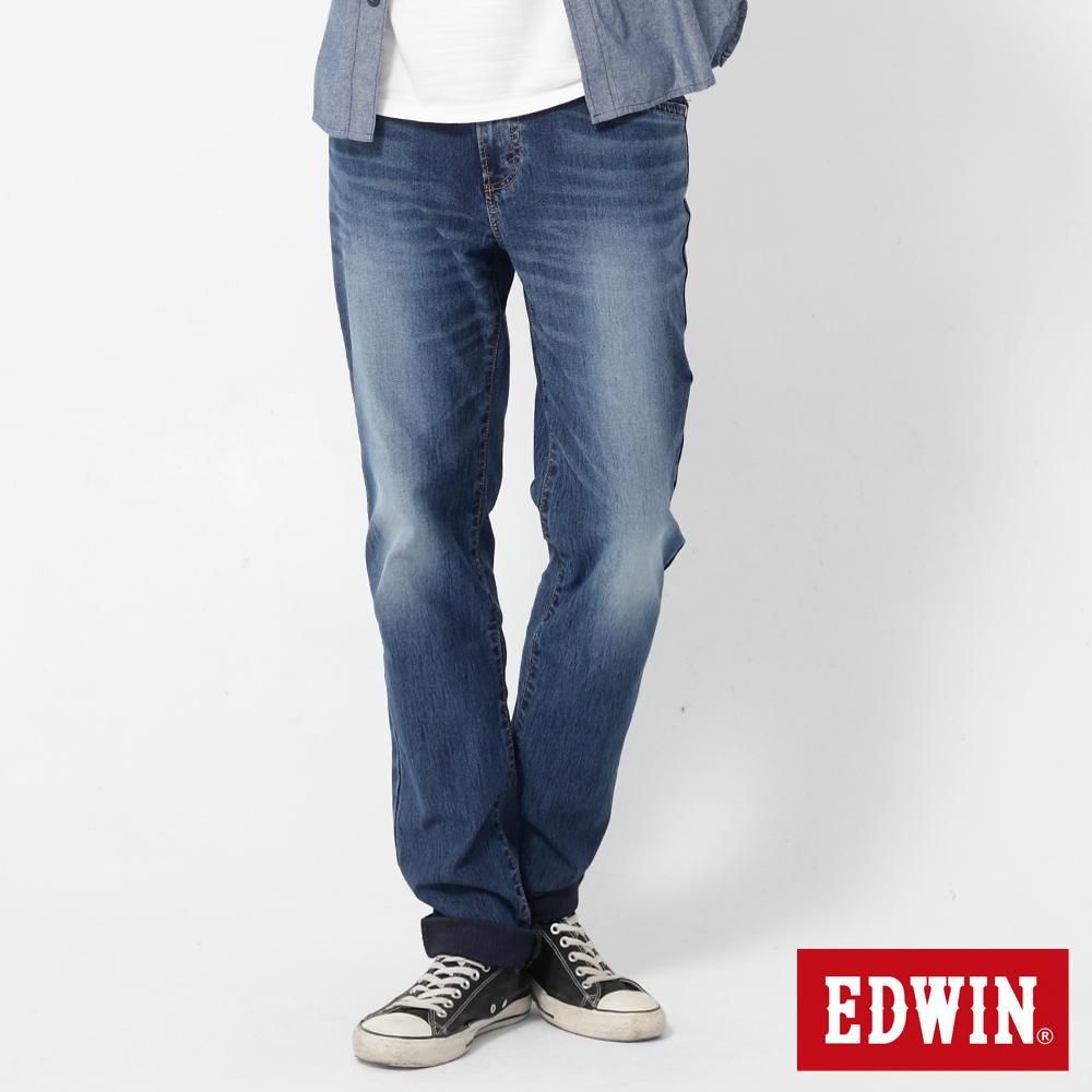 EDWIN AB褲 迦績褲JERSEYS圓織休閒褲-男-石洗綠