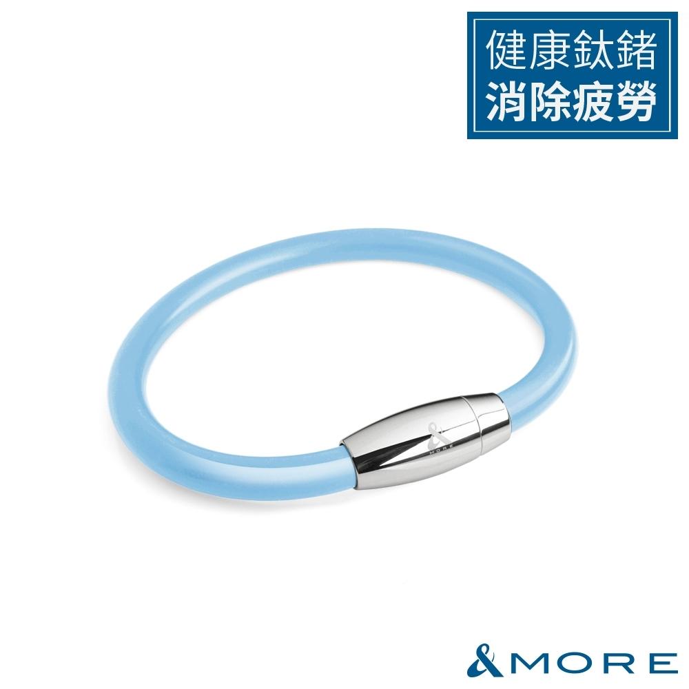 &MORE愛迪莫 健康鍺鈦手環/腳環 Z power II(6mm)-淺藍