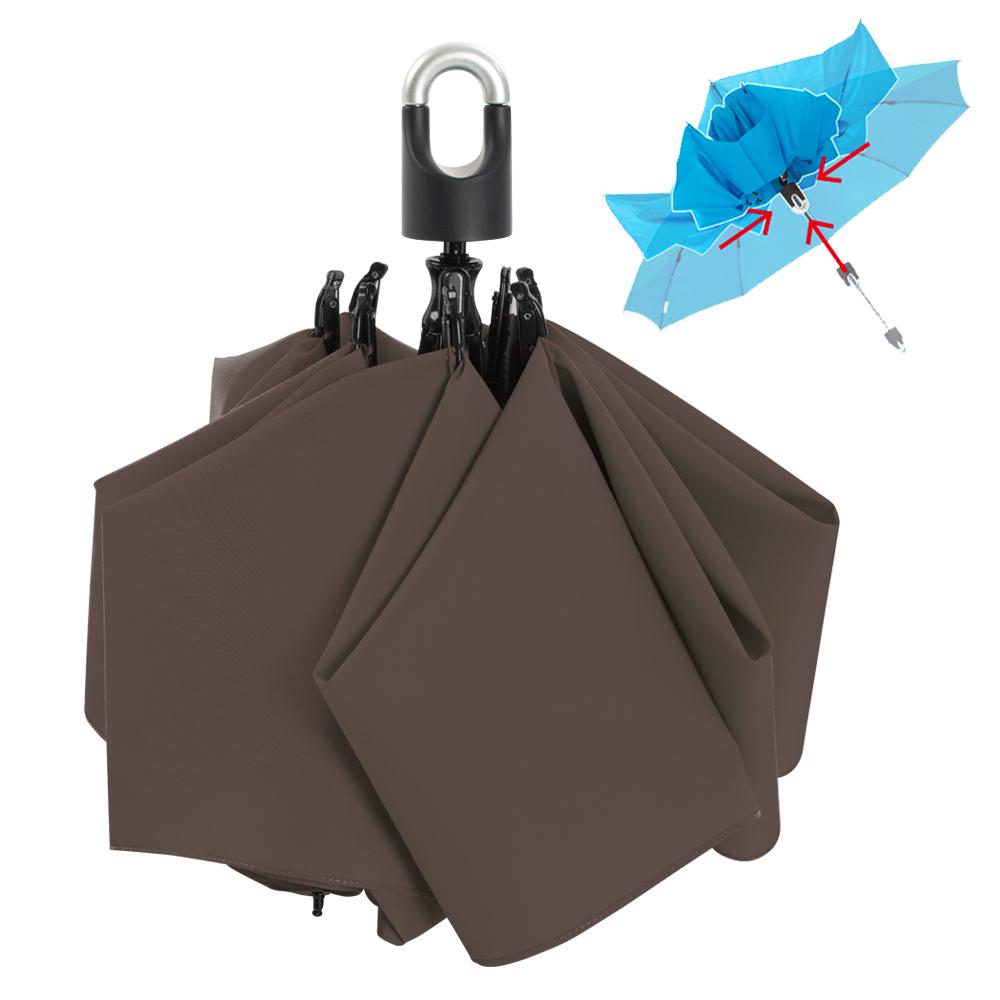 雙龍TDN 收的妙 一按秒收玻璃纖維反向傘-爵士灰