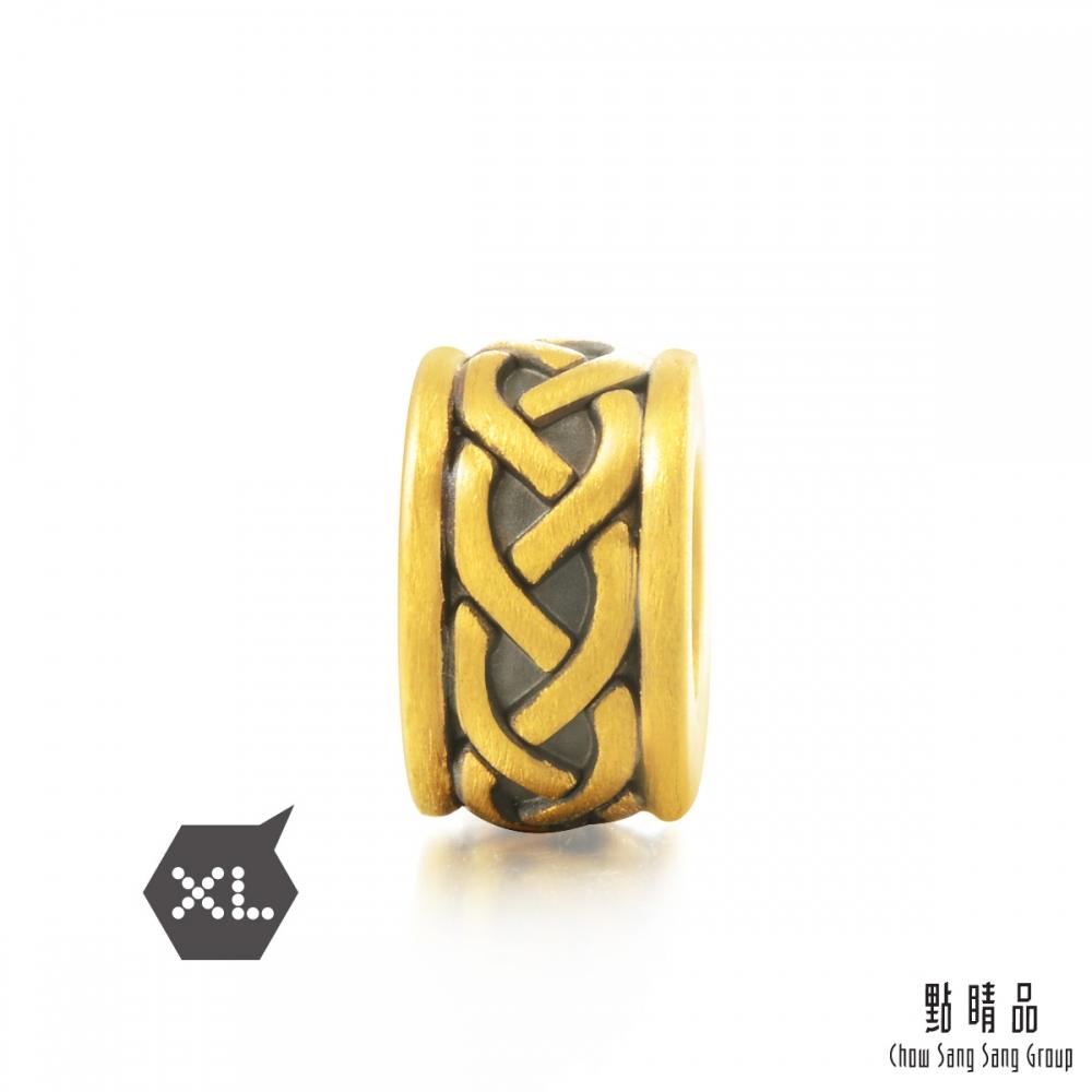 點睛品 999純金 Charme XL 酷黑系列 力量 黃金串珠