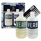 VERB 保濕洗髮2件組-洗髮精 355ml+潤髮乳355ml+造型梳 Hydrating