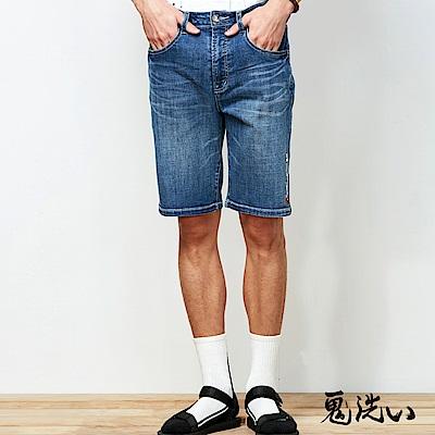 鬼洗 BLUE WAY 鬼洗激輕涼爽繡字短褲(深藍)