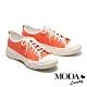休閒鞋 MODA Luxury 自在休閒風撞色拼接綁帶厚底休閒鞋-橘 product thumbnail 1