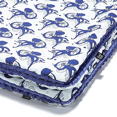 La Millou 暖膚豆豆毯嬰兒毯寶寶毯-大眼美女(地中海藍)
