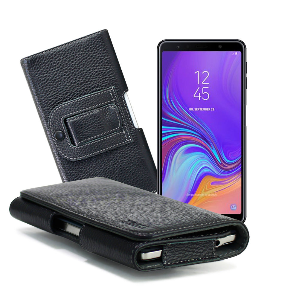 Xmart for SAMSUNG Galaxy A70 麗緻真皮腰掛皮套