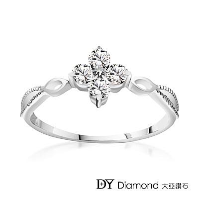DY Diamond 大亞鑽石 L.Y.A輕珠寶 18K白金 璀璨 鑽石線戒