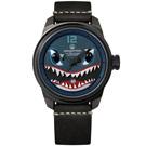 預購 elegantsis 限量 S-2T反潛鯊魚機 2.0 牛皮機械錶 藍x黑 45.5mm