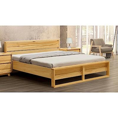 D&T 德泰傢俱 MILANO實木6尺雙人床/實木床板-190x196x82cm