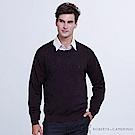 ROBERTA諾貝達 台灣製 都會時尚 100%美麗諾羊毛衣  暗紅