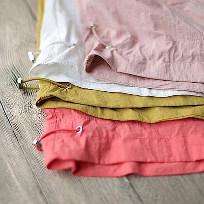 寬鬆拼接褶皺防曬衣抽褶輕薄外搭-設計所在
