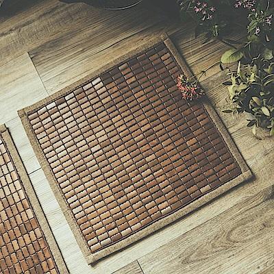 絲薇諾 3D透氣包邊炭化專利麻將竹坐墊-單人座(50×50cm)