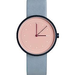 AÃRK 經典時光旅人真皮革腕錶 -粉色/36mm