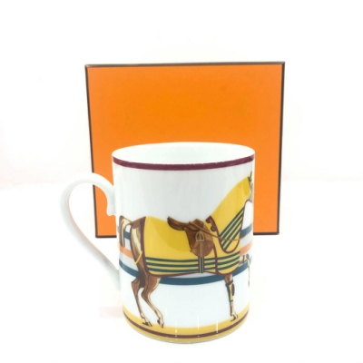 Hermes Cheval a la Couverture Mug 冠軍披風黃駿馬系列馬克杯