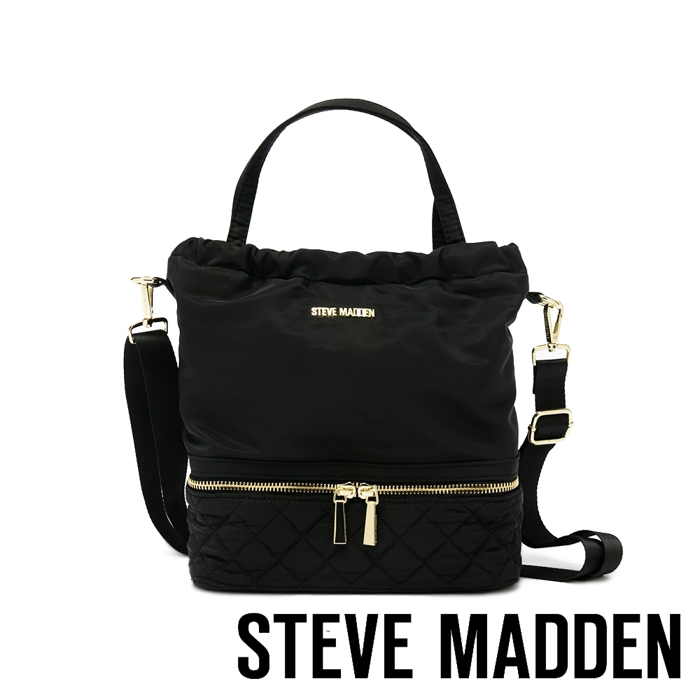 STEVE MADDEN-BKOREA 方形三背法萬用托特包-黑色