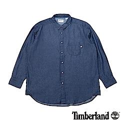 Timberland 女款復古淺靛藍洗色舒適寬鬆長款牛仔襯衫 B2404