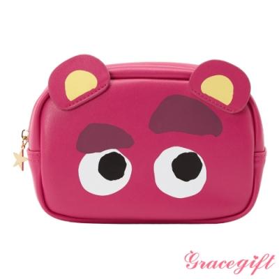 Disney collection by Gracegift玩具總動員皮革化妝包 桃