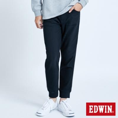 EDWIN JERSEYS 迦績 EJ6 透氣運動束口牛仔褲-男-黑色