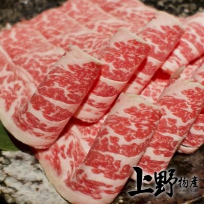 (滿899免運)【上野物產】美國牛小排火鍋肉片 (500g土10%/盤)x1