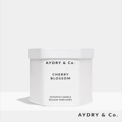 美國 AYDRY & CO. 日本櫻花 天然手工香氛 極簡純白錫罐 99g