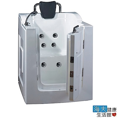 海夫健康生活館 開門式浴缸 101B-R 氣泡按摩款 (105*85*108cm)