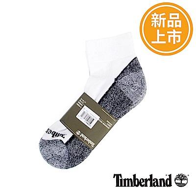 Timberland 男款白灰色透氣吸汗舒適低筒襪