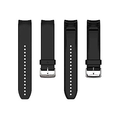 GARMIN QuickFit 22mm 墨黑色整合型矽膠錶帶