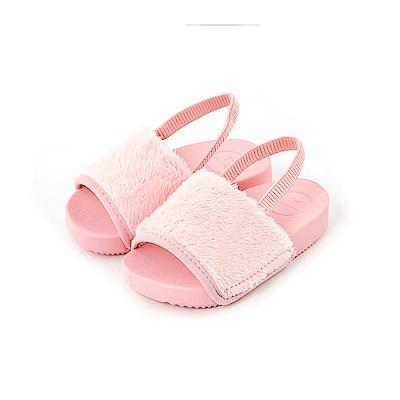 ZAXY 時尚絨毛涼鞋(寶寶款)-粉