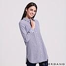 GIORDANO 女裝純棉法蘭絨長版襯衫-37 中藍