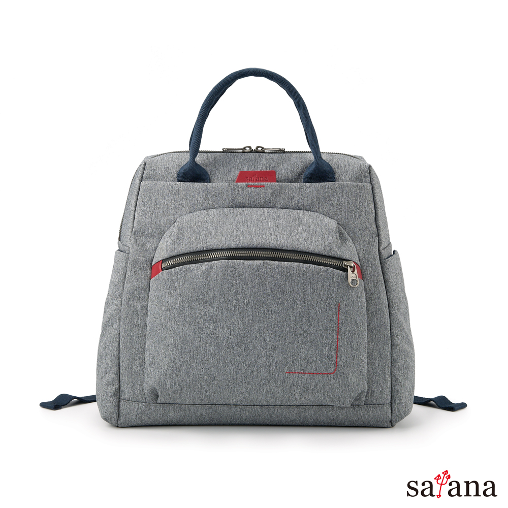 satana -Fresh  輕職人個性背包 - 麻花灰