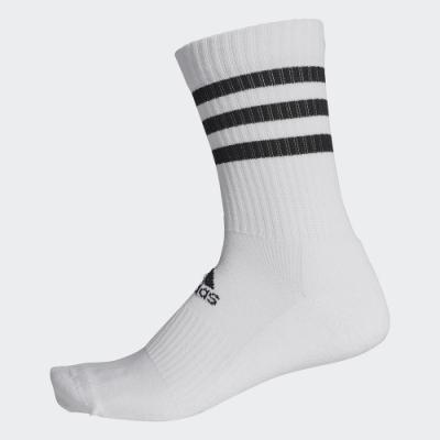 ADIDAS 訓練 中筒襪 運動襪 3雙入 白 FH6628 3-STRIPES