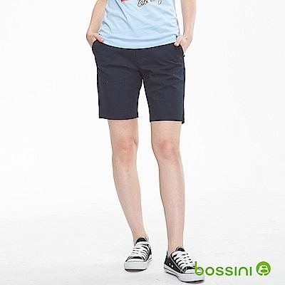 bossini女裝-素色卡其短褲02海軍藍