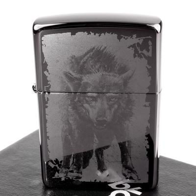 ZIPPO 美系~Wolf-狼圖案-照片成像加工打火機