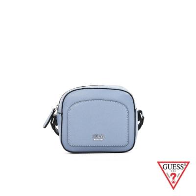 GUESS-女包-簡約素面俏皮小方包-灰藍 原價2290