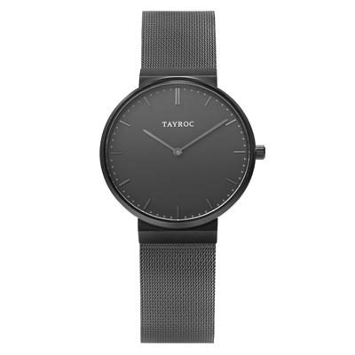 TAYROC  黑時尚騎士精美米蘭腕錶-黑(TY182)-40mm