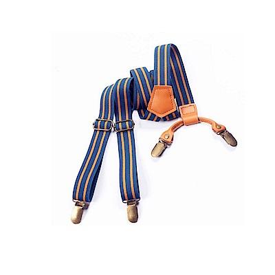 拉福   四夾2.5cm真皮質動力質感吊帶夾褲夾