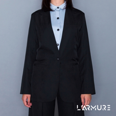 L ARMURE 女裝 Ultra-Light綁帶修身 女士西裝外套 (黑色)