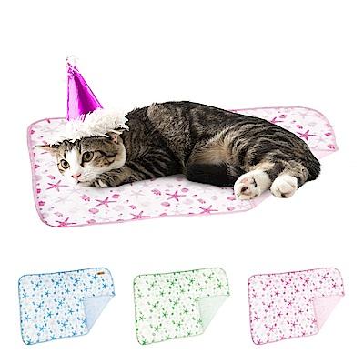 YSS 玉石冰雪纖維散熱冷涼感雙層寵物床墊/涼墊M(3色)