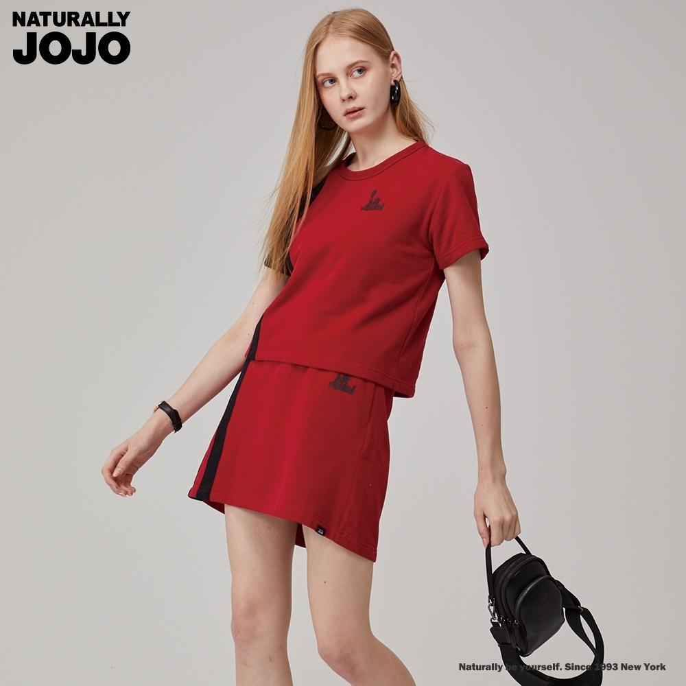 NATURALLY JOJO 經典紐約配條短裙(紅)