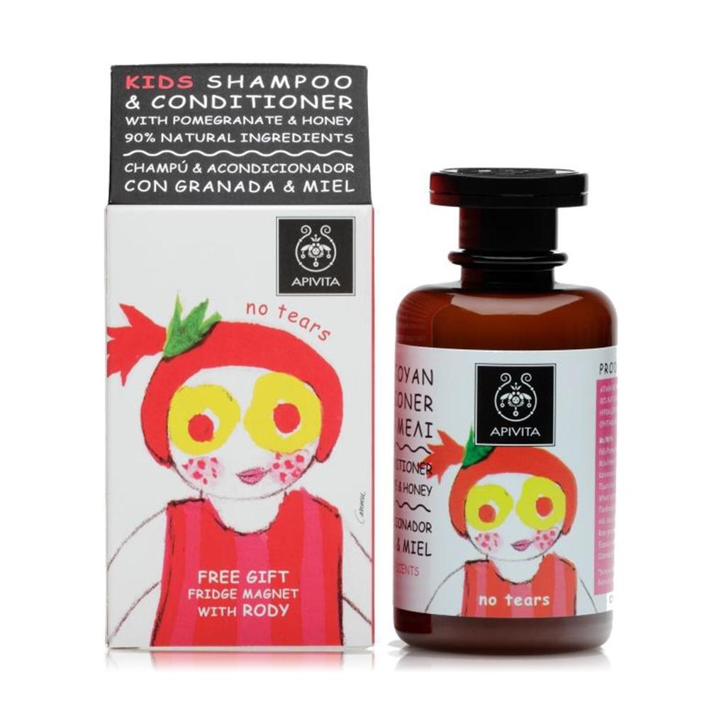 APIVITA 艾蜜塔 蜂蜜紅石榴兒童滋潤洗髮露250ml