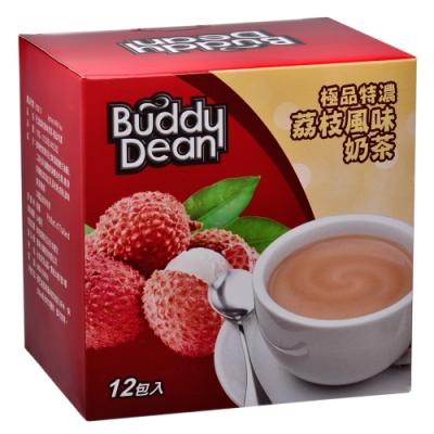 Buddy Dean 巴迪荔枝風味奶茶-極品特濃(25gx12包入)