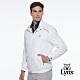 【Lynx Golf】男款防潑水防風保暖內刷毛3M反光印花長袖外套-白色 product thumbnail 1