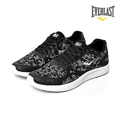 EVERLAST 美國運動品牌-輕量避震跑鞋-男-黑迷彩