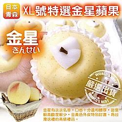 【天天果園】日本青森XL號金星蘋果
